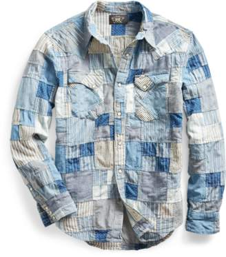 Slim Patchwork Western Shirt