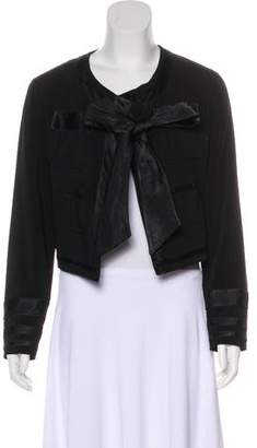 Viktor & Rolf Satin-Trimmed Casual Jacket w/ Tags