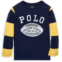 Ralph Lauren Little Boy's& Boy's Long Sleeve Polo Graphic Tee