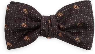 Alexander McQueen Skull pin-dot jacquard bow tie