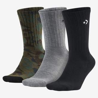 Converse Camo Crew Unisex Socks (3 Pack)
