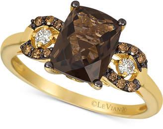 LeVian Le Vian Smoky Quartz (1-9/10 ct. t.w.) & Diamond (1/8 ct. t.w.) Ring in 14k Gold