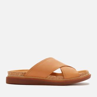 ba0eab78b0d9 Clarks Women s Trace Drift Leather Cross Front Sandals