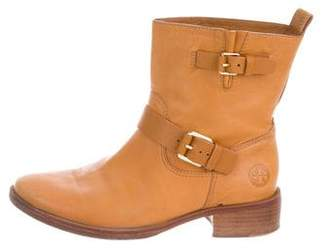 Tory Burch Leather Moto Boots