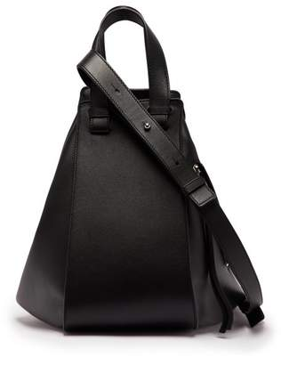 Loewe Hammock Medium Leather Tote - Womens - Black