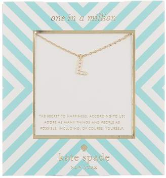 Kate Spade one in a million stone 'L' pendant necklace