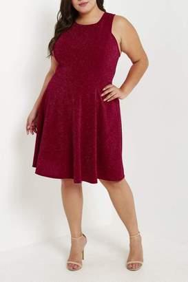 MaiTai Red Glitter Dress