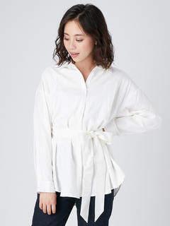 Ungrid (アングリッド) - ベルトカラーシャツ
