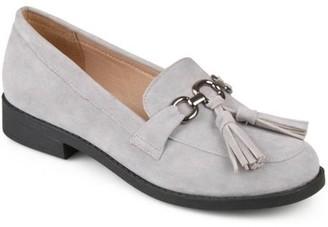 Brinley Co. Womens Tassel Faux Suede Loafers
