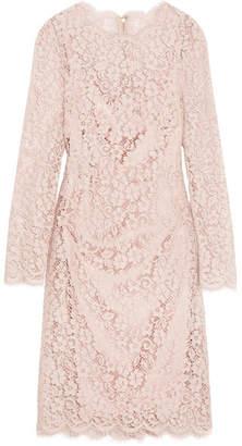 Dolce & Gabbana - Corded Cotton-blend Lace Dress - Pastel pink $2,495 thestylecure.com