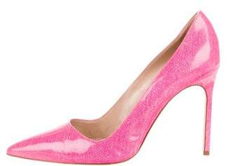 Manolo Blahnik BB Patent Leather Pointed-Toe Pumps