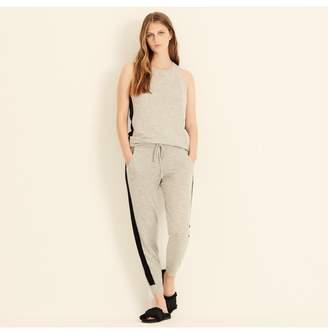 Amanda Wakeley Aldridge Grey Black Cashmere Joggers