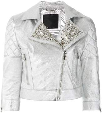 Philipp Plein Up And Down biker jacket