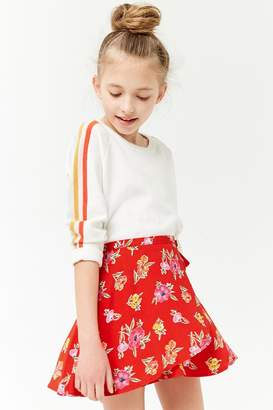 Forever 21 Girls Floral Tulip Skirt (Kids)