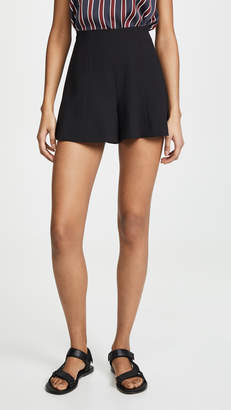 Alice + Olivia Keira High Waisted Flared Shorts