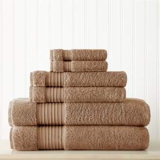 Allure 6 piece 100% Turkish Cotton Towel Set Mocha