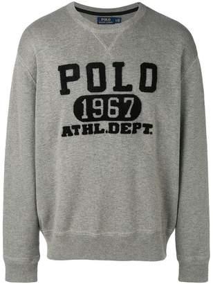 Polo Ralph Lauren textured logo sweatshirt