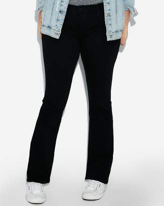 Express Low Rise Black Stretch Barely Boot Jeans