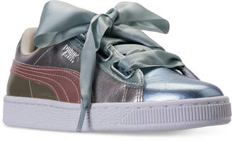 Puma Women's Basket Heart Bauble Casual Sneakers from Finish Line