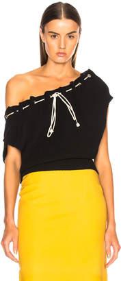 Calvin Klein Drawstring Neck Short Sleeve Sweater
