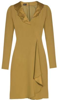 Emporio Armani Ruffle Front Dress
