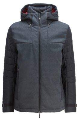 BOSS Hugo Hooded padded jacket sustainable lining & water-repellent finish XXL Charcoal