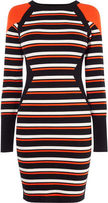 Karen Millen Striped Bodycon Knit Dress