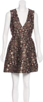 Alice + Olivia Floral Brocade Dress