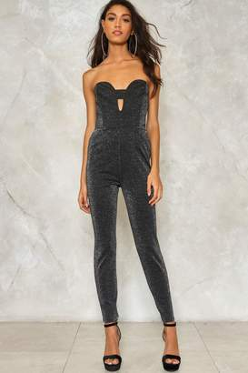 Nasty Gal Somebody to Love Glitter Jumpsuit