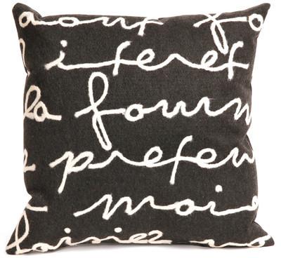Liora Manné Poem Pillow 18x18 Black
