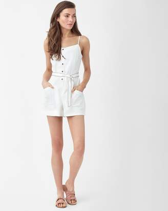 Belted Twill Romper