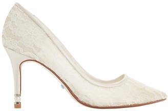 Dune Bridal Collection Aisle Faux Pearl Heel Court Shoes, Ivory