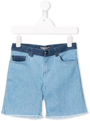 Bonpoint contrast denim shorts