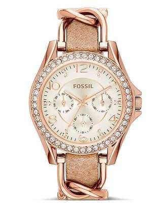 Empreinte Fossil Ladies Riley Rose Tone Watch