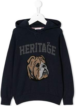 Sun 68 Heritage knitted hoodie