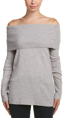 Quinn Qi Cashmere Off-The-Shoulder Tube Tunic