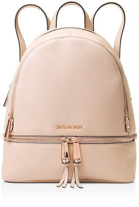 MICHAEL Michael Kors Michael Kors Rhea Medium Zip Leather Backpack