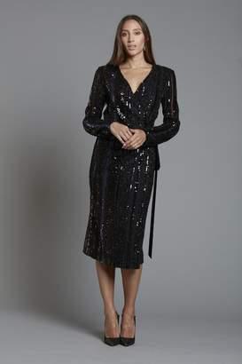 Alberto Makali Sequin Wrap Dress
