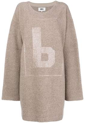MM6 MAISON MARGIELA fleece jumper dress