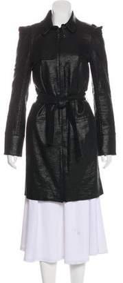 Rebecca Vallance Metallic Structured Trench Coat