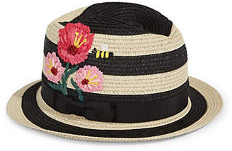 Kate Spade Blossom Embroidered Trilby Hat