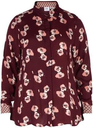 Zizzi Long-Sleeved Printed Blouse