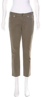 Tory Burch Mid-Rise Straight-Leg Pants