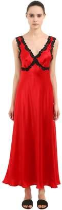 Loretta Caponi Silk Satin Night Gown