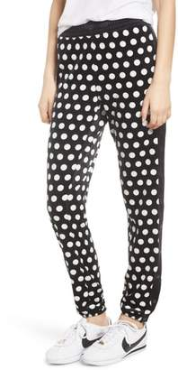 Juicy Couture Polka Dot Velour Track Pants