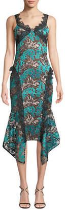 Elliatt Sleeveless Quartz Lace Draped Dress