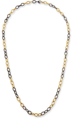 "Margo Morrison Two-Tone Chain-Link Necklace. 36""L"