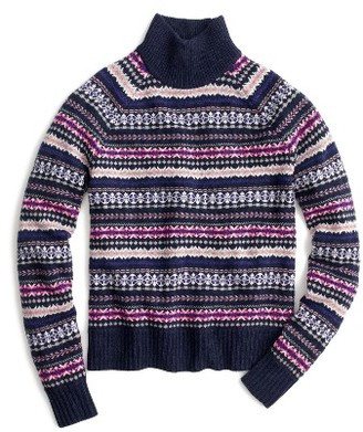 Women's J.crew Fair Isle Turtleneck Sweater $98 thestylecure.com