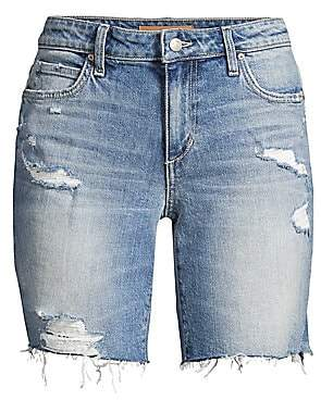 Joe's Jeans Women's Bermuda Distressed Denim Shorts