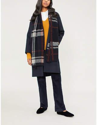 Max Mara S Dparka hooded wool wrap coat